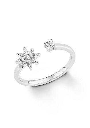 Polarstern-Ring aus Silber