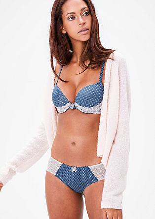 Polka dot shorts with lace from s.Oliver
