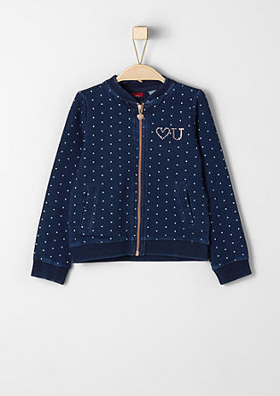 Polka dot zip-up sweatshirt from s.Oliver