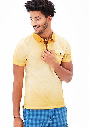 Polo majica barvana s hladnim postopkom pigmentiranja