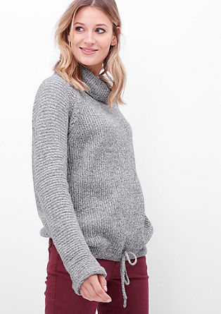 Polo neck jumper with wool from s.Oliver