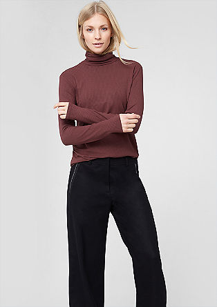 Polo neck with a ribbed texture from s.Oliver