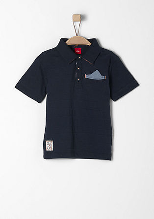 Polo shirt with a breast pocket from s.Oliver