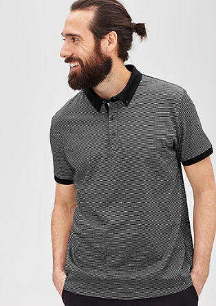 Polo shirt with a button-down collar from s.Oliver