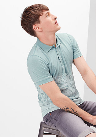 Polo shirt with a palm tree print from s.Oliver