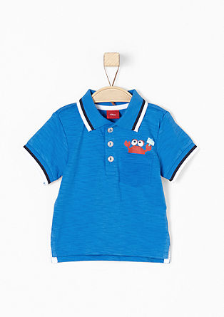 Polo shirt with a small print from s.Oliver