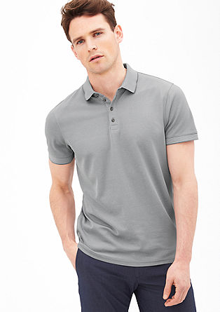 Polo shirt with a textured pattern from s.Oliver