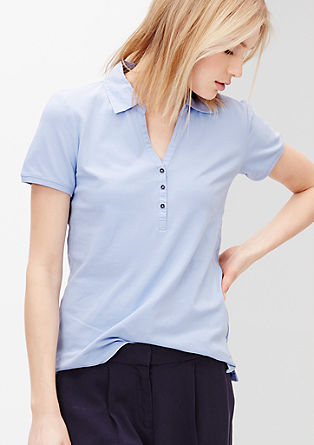 Polo shirt with a V-neckline from s.Oliver