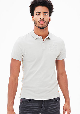 Polo shirt with an embossed logo from s.Oliver