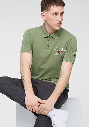 Polo shirt with artwork from s.Oliver