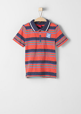 Polo shirt with melange stripes from s.Oliver