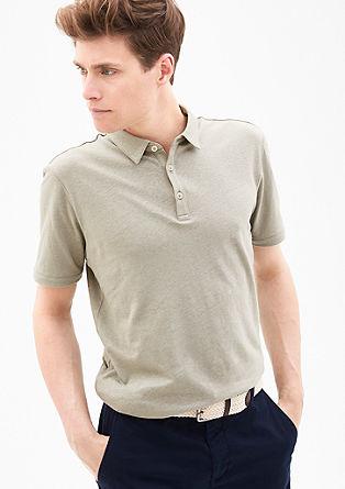 Poloshirt aus Leinen-Mix