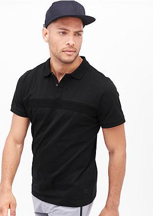 Poloshirt in sportswear look