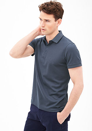 Poloshirt met gestructureerd motief
