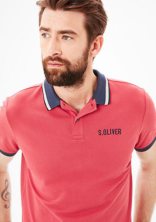 Poloshirt mit Label-Stitching