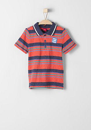Poloshirt mit Melange-Streifen