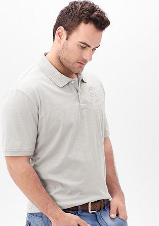 Poloshirt mit Präge-Label