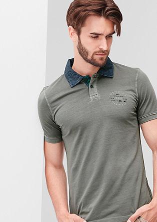 Poloshirt mit Surfer-Print