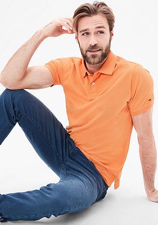 Poloshirt van piqué-katoen