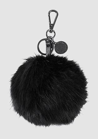 Pompon-Schlüsselanhänger
