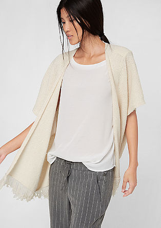 Poncho in a crocheted look from s.Oliver