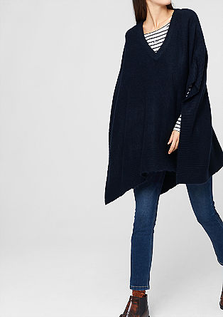 Poncho in a wool blend from s.Oliver