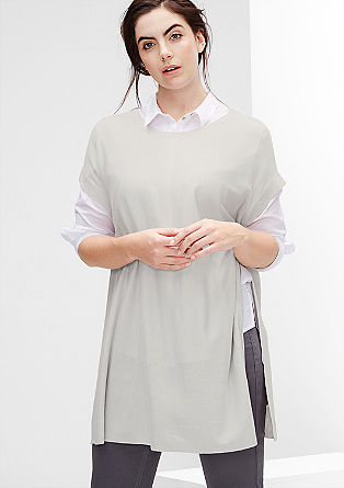 Poncho-Pullover aus Kaschmir-Mix
