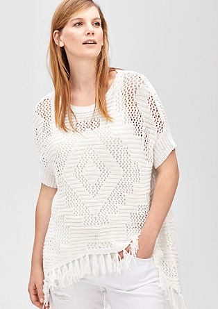 Poncho-style knit jumper from s.Oliver