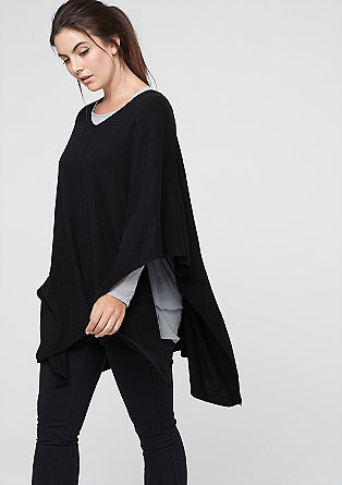Poncho with a percentage of cashmere from s.Oliver