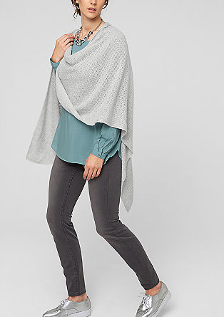 Poncho with a percentage of mohair from s.Oliver