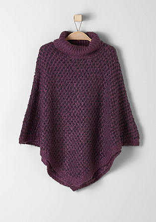 Poncho with a polo neck from s.Oliver