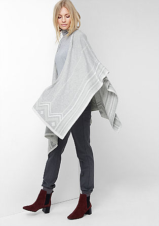 Poncho with a subtle pattern from s.Oliver