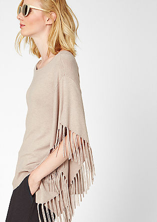 Poncho with fringing from s.Oliver