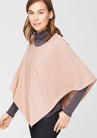 Poncho with glitter effects from s.Oliver