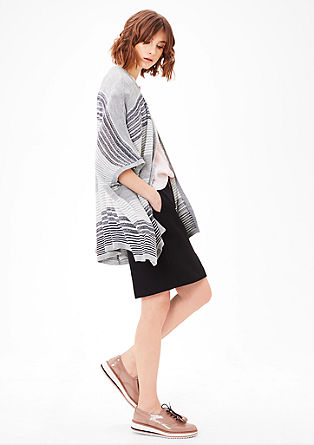 Poncho with stripes from s.Oliver