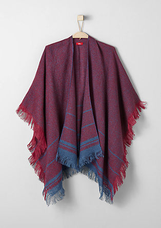 Poncho with woven pattern from s.Oliver