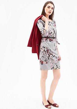 Popline-Kleid mit Knotendetails