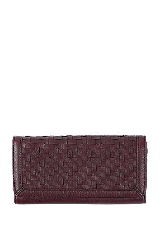 Portemonnaie mit geflochtener Front