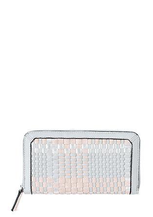 Portemonnaie mit Metallic-Detail