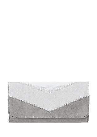 Portemonnaie mit Metallic-Effekt