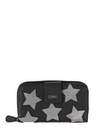 Portemonnaie mit Metallic-Sternen