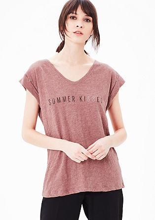 Potiskana majica iz plamenaste preje