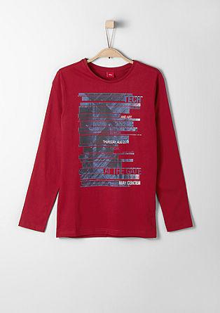 Potiskana majica z dolgimi rokavi