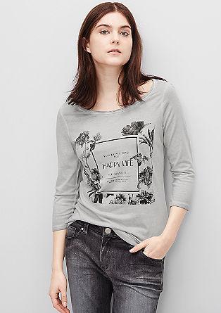 Potiskana majica z okrasnimi kamenčki