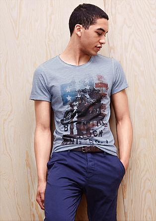 Potiskana majica z učinkom barvanega pranja