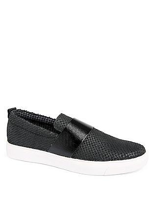 Potiskani usnjeni čevlji brez vezalk