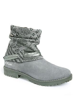 Potiskani usnjeni škornji iz materiala Tex