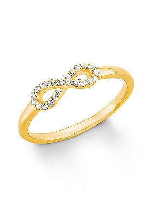 Pozlačen prstan s simbolom neskončnosti