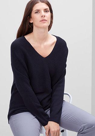 Prečno pleten volneni pulover
