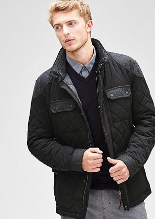 Prešita jakna s kontrastnimi detajli